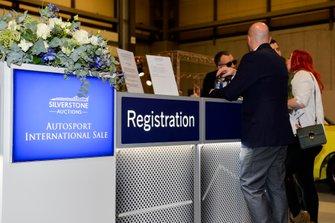 The Silverstone Auctions Registration desk