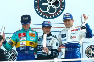 Podium: second place David Coulthard, Reynard 94D-Zytek Judd, Race winner Franck Lagorce, Reynard 94D-Cosworth, third place Gil de Ferran, Reynard 94D-Zytek Judd