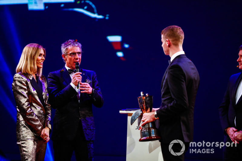 Jason Plato with McLaren Autosport BRDC Award winner Tom Gamble