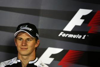 Nico Hulkenberg, Williams in the FIA Press Conference