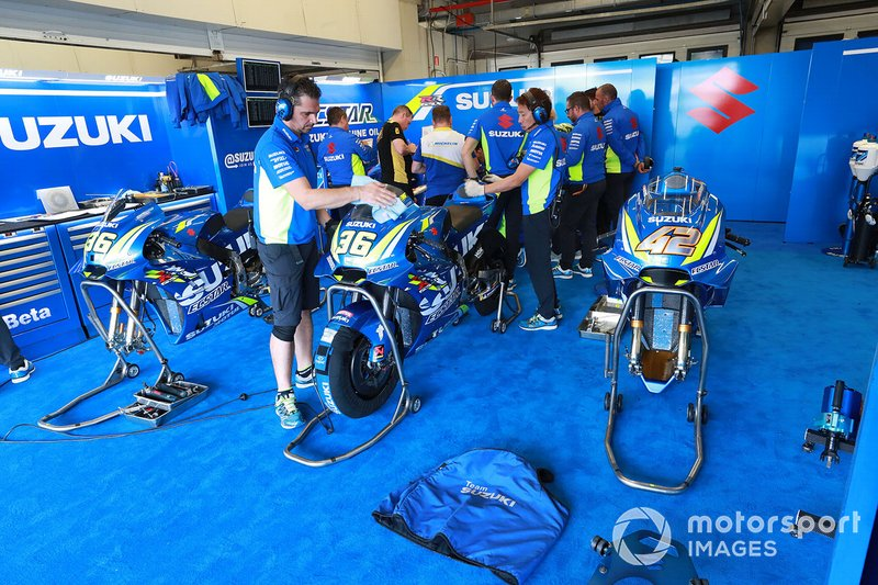 Team Suzuki MotoGP garage