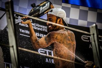 Lewis Hamilton, Mercedes AMG F1 fête sa victoire