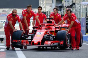 Sebastian Vettel, Ferrari SF71H car and team
