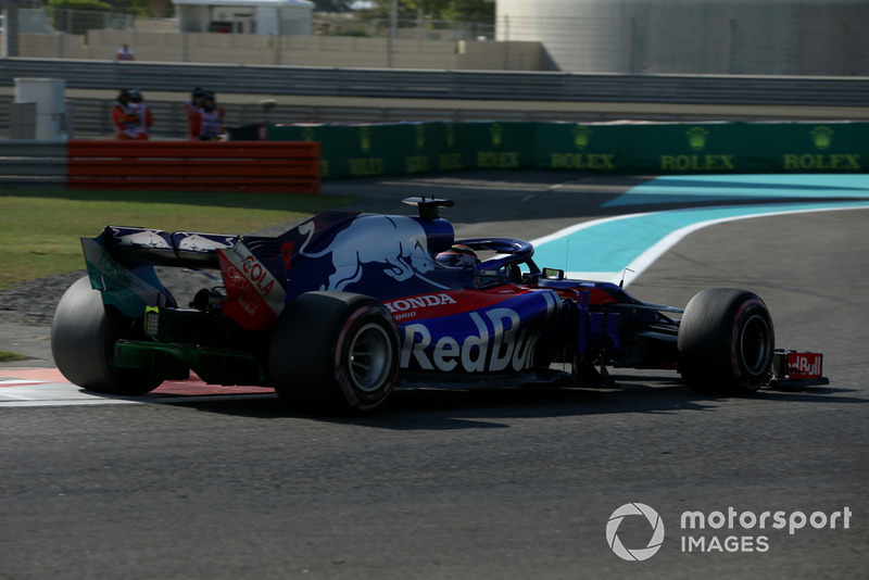 Brendon Hartley, Scuderia Toro Rosso STR13, con la vernice aerodinamica