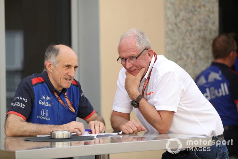 Franz Tost Team Principal,, Scuderia Toro Rosso e il Dr. Helmut Marko, consulente Red Bull Motorsport