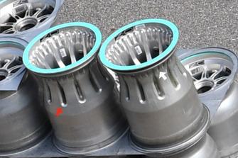 Jantes de roues de la Mercedes F1 AMG