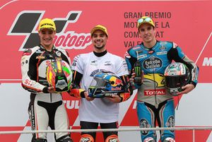 Podium: race winner Miguel Oliveira, Red Bull KTM Ajo, second place Iker Lecuona, Swiss Innovative Investors, third place Alex Marquez, Marc VDS