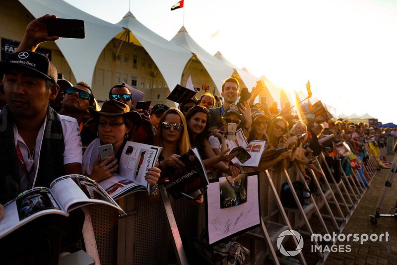 Fans wait for the autograph session