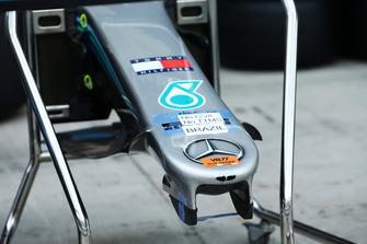 Vue détaillée du nez de la Mercedes-AMG F1 W09
