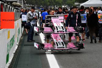 Racing Point Force India VJM11 nose and front wings