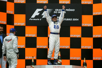 Juan Pablo Montoya, Williams on the podium.