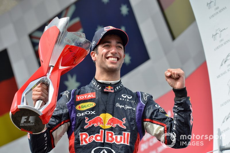 #9 Daniel Ricciardo (7 victorias en la década)