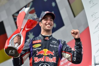 Podium: Winnaar Daniel Ricciardo, Red Bull Racing