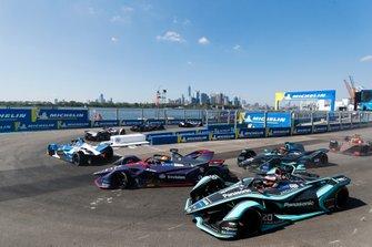 Antonio Felix da Costa, BMW I Andretti Motorsports, BMW iFE.18, Robin Frijns, Envision Virgin Racing, Audi e-tron FE05, Mitch Evans, Panasonic Jaguar Racing, Jaguar I-Type 3