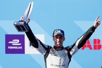 Sébastien Buemi, Nissan e.Dams, 3rd position, celebrates on the podium