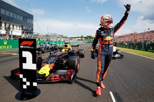 Polesitter Max Verstappen, Red Bull Racing in Parc Ferme