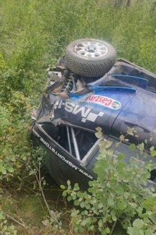 Автомобиль Ford Fiesta WRC Хэйдена Пэддона (M-Sport) после аварии