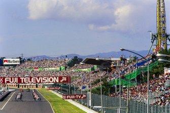 Startaufstellung zum GP Japan 1996 in Suzuka