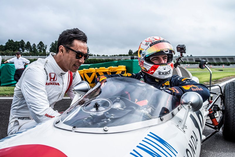 Max Verstappen, Honda RA272 with Takuma Sato