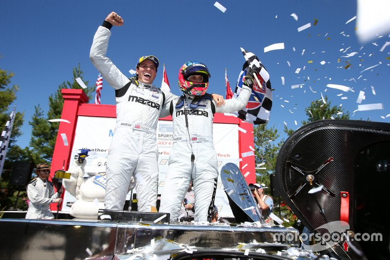 Ganador #77 Mazda Team Joest Mazda DPi, DPi: Oliver Jarvis, Tristan Nunez