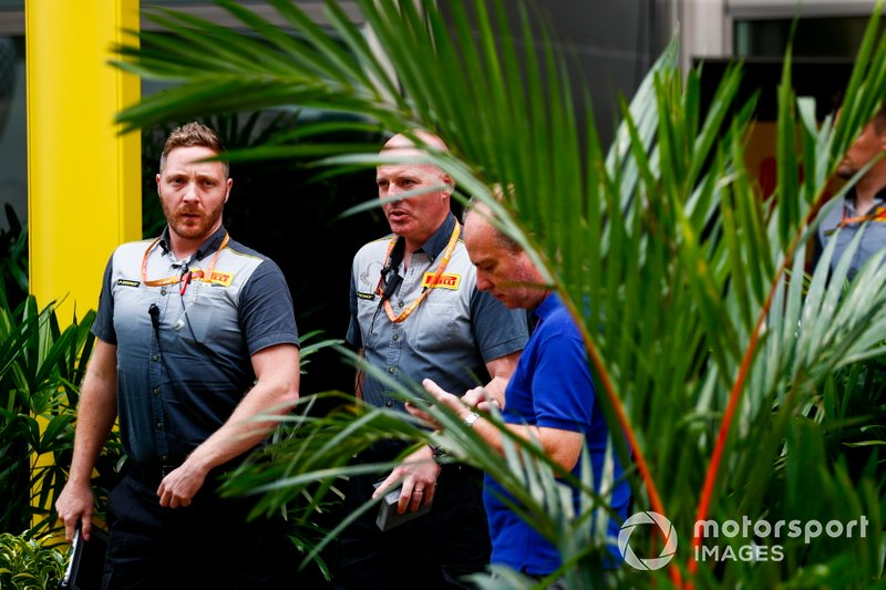 Pirelli staff in the Paddock