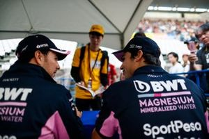 Sergio Perez, Racing Point, e Lance Stroll, Racing Point