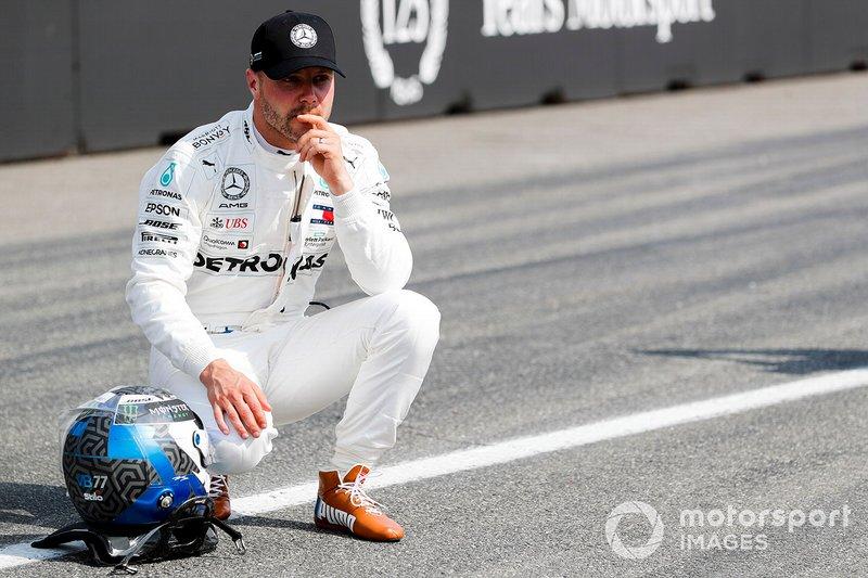 Обладатель третьего места в квалификации Валттери Боттас, Mercedes AMG F1
