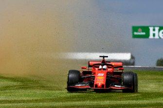 Sebastian Vettel, Ferrari, sort de la piste