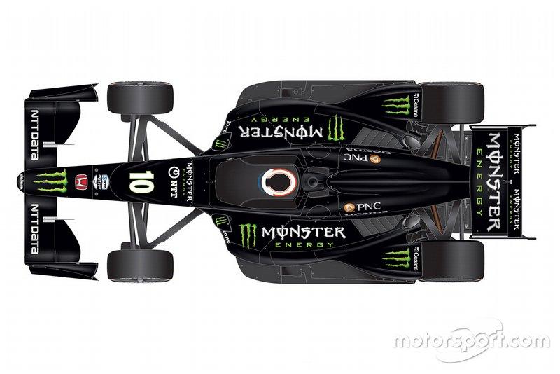 Felix Rosenqvist, Chip Ganassi Racing Honda, livery