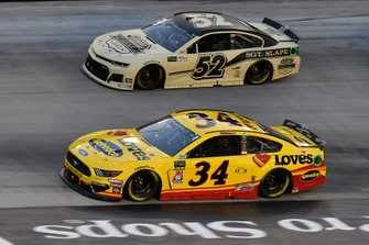 Michael McDowell, Front Row Motorsports, Ford Mustang Love's Travel Stops, Bayley Currey, Rick Ware Racing, Chevrolet Camaro Belmont Classic Cars