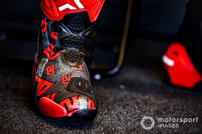 Dettaglio della scarpa di Fabio Quartararo, Petronas Yamaha SRT