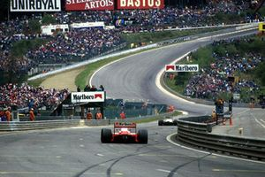 Alain Prost, McLaren MP4-3 approaches Eau Rouge