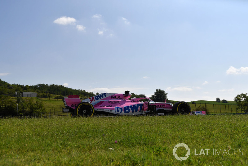 Никита Мазепин на тестах Формулы 1 в Венгрии