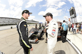 Charlie Kimball, Carlin Chevrolet en Conor Daly, Harding Racing Chevrolet