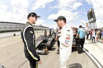 Charlie Kimball, Carlin Chevrolet en Conor Daly, Harding Racing Chevrolet