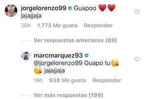 Jorge Lorenzo y Marc Márquez, mensajes redes sociales