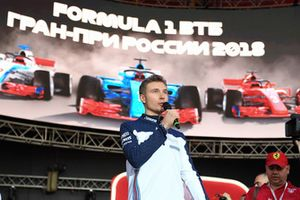 Sergey Sirotkin, Williams Racing, sul palco