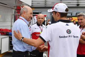 Peter Sauber, Sauber Team Owner and Charles Leclerc, Alfa Romeo Sauber F1 Team