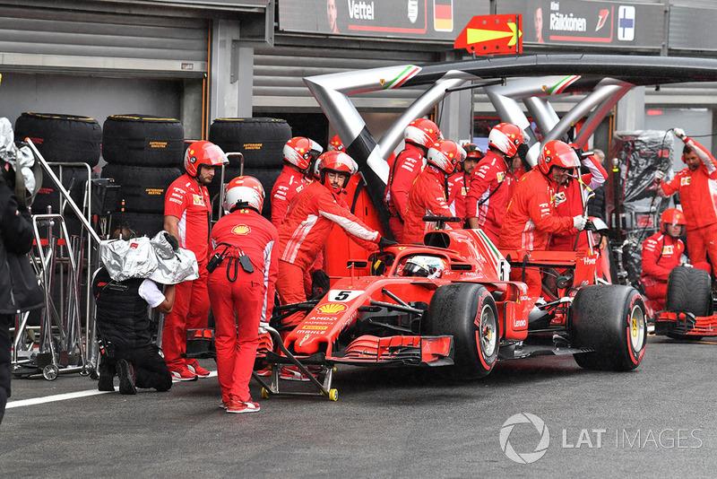 Sebastian Vettel, Ferrari SF71H in Q3