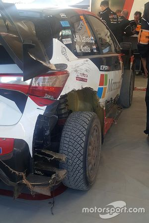 The car of Jari-Matti Latvala, Miikka Anttila, Toyota Gazoo Racing WRT Toyota Yaris WRC