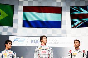 Sergio Sette Camara, Carlin Nyck De Vries, PREMA Racing en George Russell, ART Grand Prix