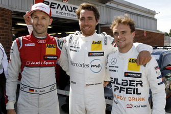 Top 3 after Q1: Pole position for Daniel Juncadella, Mercedes-AMG Team HWA, René Rast, Audi Sport Team Rosberg, Lucas Auer, Mercedes-AMG Team HWA
