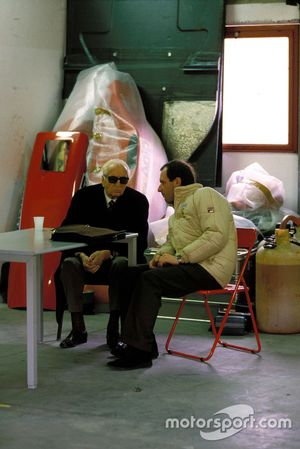 Enzo Ferrari con Marco Piccinini, Ferrari director deportivo