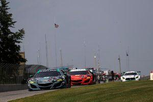 #93 Michael Shank Racing with Curb-Agajanian Acura NSX, GTD - Lawson Aschenbach, Justin Marks, #86 Michael Shank Racing with Curb-Agajanian Acura NSX, GTD - Katherine Legge, Alvaro Parente