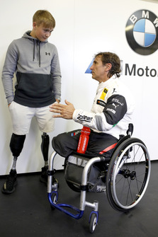 Billy Monger with Alex Zanardi, BMW Team RMR