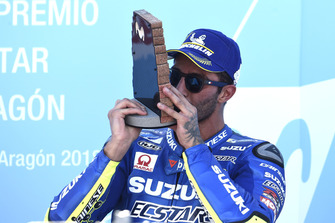Подиум: обладатель третьего места Андреа Янноне, Team Suzuki MotoGP