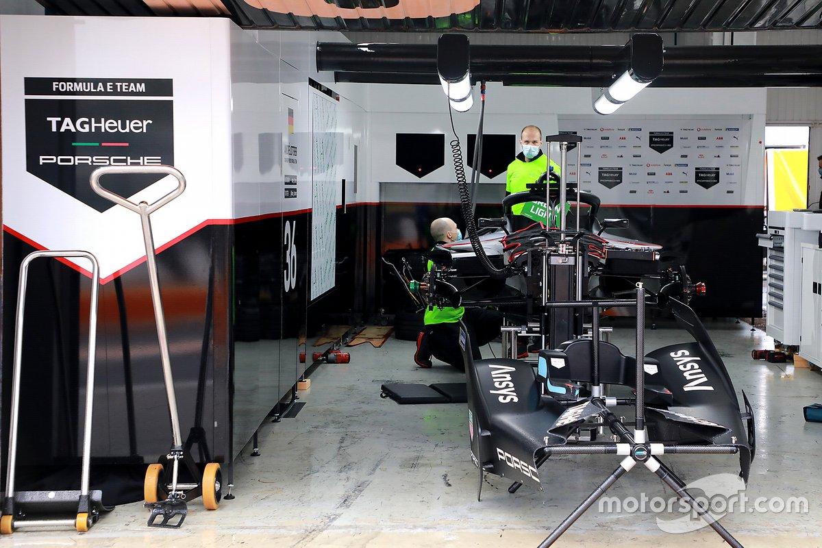TAG Heuer Porsche Formula E Team garage