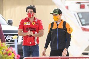 Lando Norris, McLaren and Carlos Sainz Jr., Ferrari