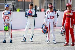 Mick Schumacher, Haas F1, George Russell, Williams, and Kimi Raikkonen, Alfa Romeo