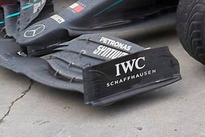 Detail voorvleugel Mercedes F1 W11